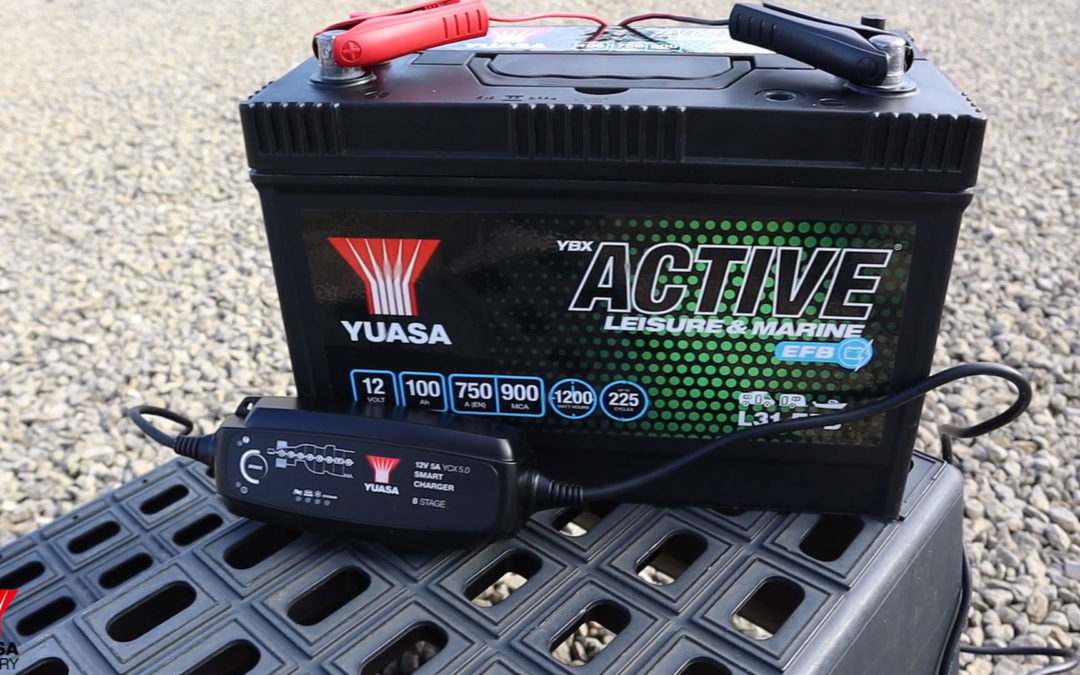 Leisure battery maintenance and care with Yuasa